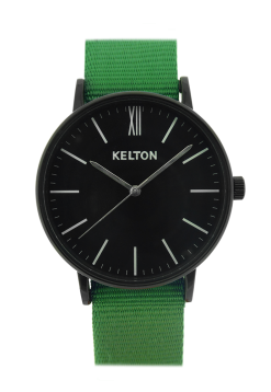 KELTON IDYLLIC watch black and green Our SALES selection