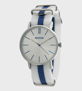 Idyllic metal white & blue - Kelton watch