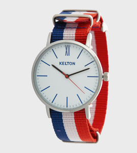 Idyllic metal blue white red - Kelton watch
