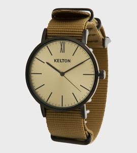 Idyllic metal black & beige - Kelton watch