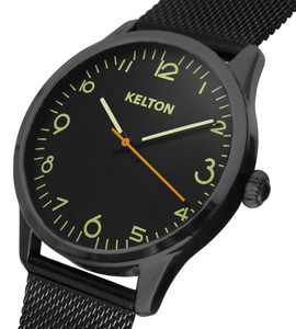 Pilote black Kelton watch