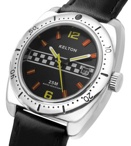 Black racing Kelton watch man