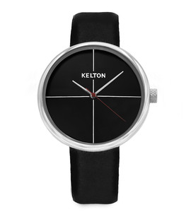 Vinyle black leather - Kelton watch