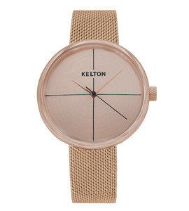 Vinyle or rose - montre Kelton